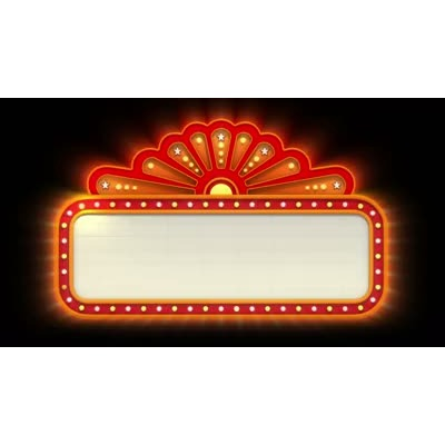 ID# 6656 - Theater Sign Lit Up - Video Background