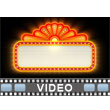 Theater Sign Lit Up Video Background