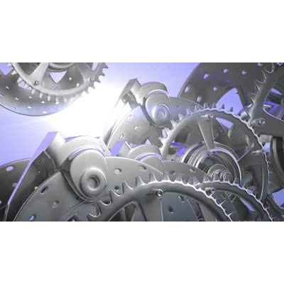 ID# 6692 - Chrome Gears - Video Background