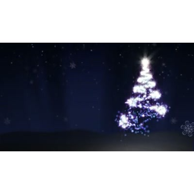 ID# 6884 - Abstract Christmas Tree - Video Background