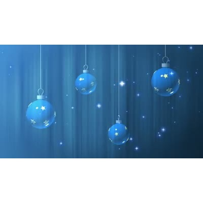 ID# 7158 - Blue Ornament - Video Background
