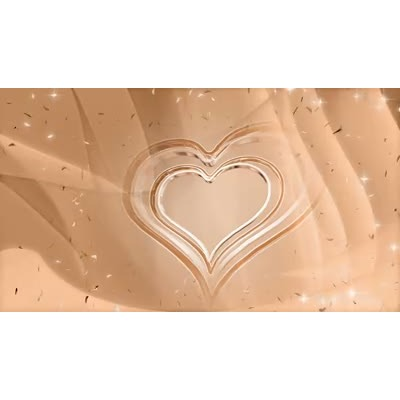 ID# 7197 - Floating Hearts - Video Background