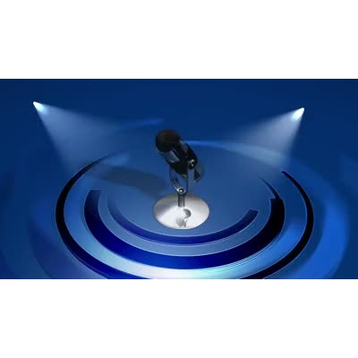ID# 8059 - Microphone - Video Background