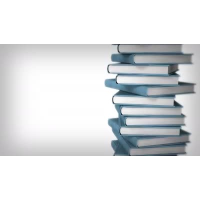 ID# 9069 - Book Stack Side - Video Background