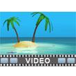 ID# 9424 - Ocean Island - Video Background