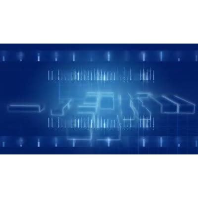 ID# 9624 - Blue Technology  - Video Background