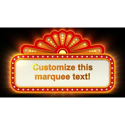 ID# 9712 - Theater Sign Zoom Text - Video Background