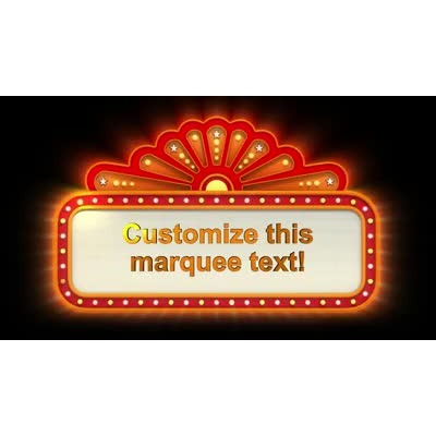 ID# 9713 - Theater Sign Lit Up Text - Video Background