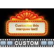 Theater Sign Lit Up Text PowerPoint Video Background