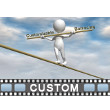 Stick Figure Tightrope Text PowerPoint Video Background