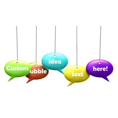 ID# 9720 - Five Idea Bubble Text - Video Background