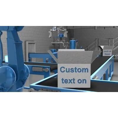 ID# 9723 - Automated Factory Text - Video Background