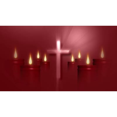 ID# 9788 - Cross And Candles - Video Background