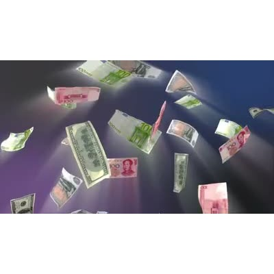 ID# 10589 - Money Bills Falling - Video Background