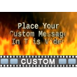 ID# 11474 - Fire Text - Video Background
