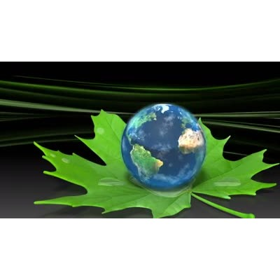 ID# 12187 - Earth On Leaf - Video Background