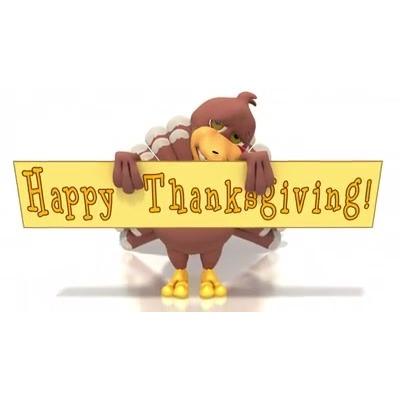 ID# 13395 - Happy Thanksgiving Turkey - Video Background