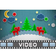 Paper Christmas Scenery Video Background
