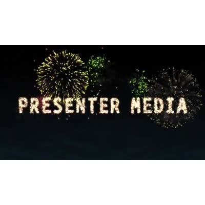 ID# 13542 - Fireworks Text - Video Background
