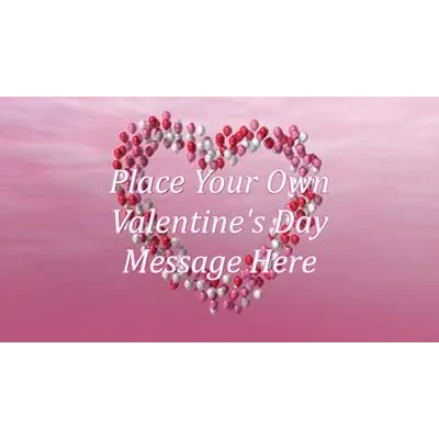 ID# 13902 - Valentine Heart Balloons Text - Video Background