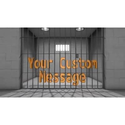 ID# 13927 - Jail Cell Text - Video Background