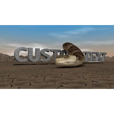 ID# 14047 - Desert Snake Text - Video Background