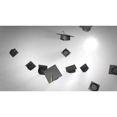 ID# 14380 - Graduation Hat Toss - Video Background