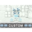 Boxy Robot Interface PowerPoint Video Background