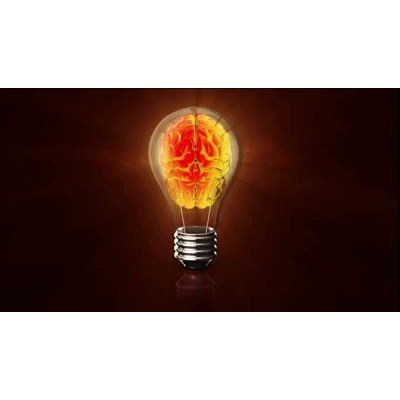 ID# 14978 - Eletric Brain In Lightbulb - Video Background