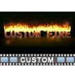 ID# 15607 - Custom Burning Fire Text - Video Background