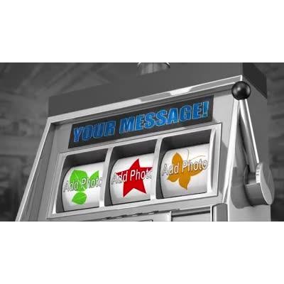 ID# 16373 - Custom Slot Machine Loser - Video Background