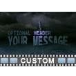 ID# 16443 - Custom Text On Stormy Waters - Video Background