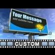 ID# 16636 - Custom one Ad Billboard - Video Background