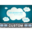 ID# 16956 - Floating 2D Clouds With Message - Video Background