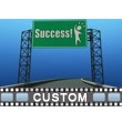 ID# 17050 - Custom Exit Signs - Video Background