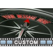 Custom Compass Close Up PowerPoint Video Background