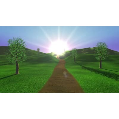 ID# 17796 - Sunset on a Path - Video Background