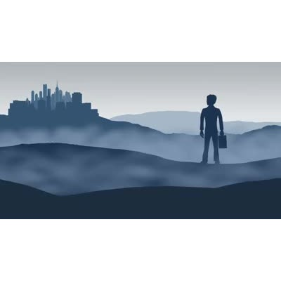 ID# 17895 - Epic Businessman Landscape - Video Background