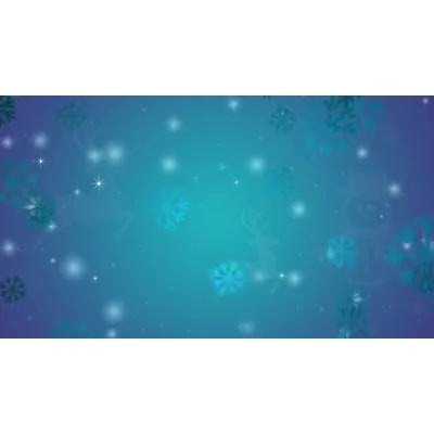 ID# 17943 - Winter Blue Snowfall - Video Background