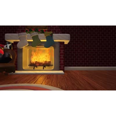 ID# 17957 - Cozy Holiday Fireplace - Video Background