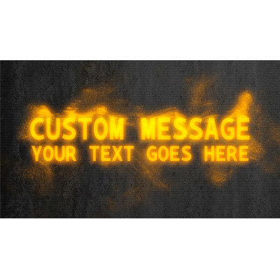 ID# 18220 - Text Particles Custom - Video Background