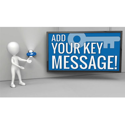ID# 18221 - Custom Key Presentation Message - Video Background