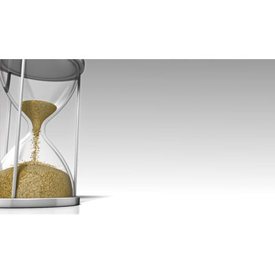 ID# 18411 - An Hourglass with Sand Passing Through - Video Background