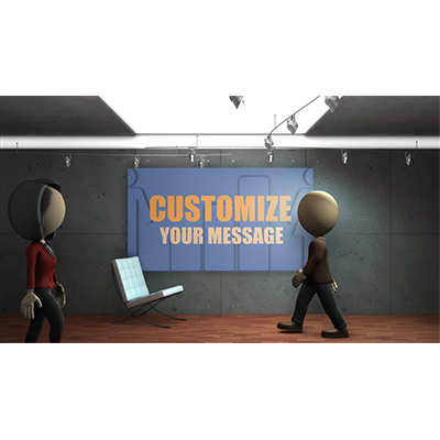 ID# 18689 - Business Lobby Custom - Video Background