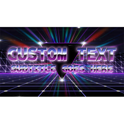 ID# 19907 - 80s Retro Text Custom - Video Background