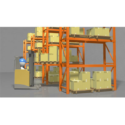 ID# 20486 - Moving Warehouse Inventory Rack To Rack - Video Background