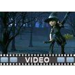 Witch Riding Broom Woods PowerPoint Video Background
