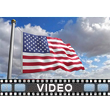 American Flag Blowing PowerPoint Video Background