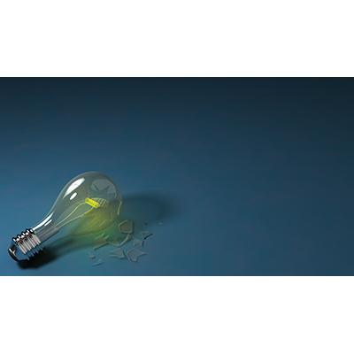 ID# 21662 - Broken Light Bulb - Video Background
