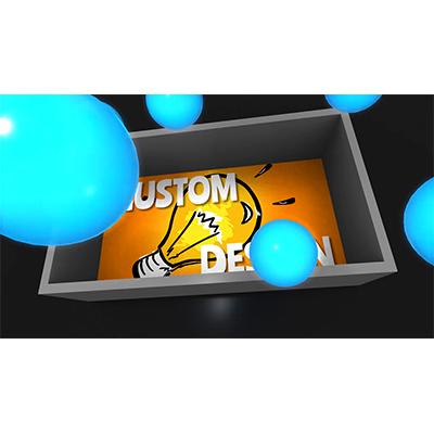 ID# 21705 - Box Of Glowing Spheres Custom - Video Background